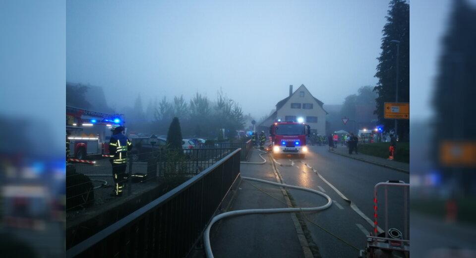 Feuerwehr, Sanitätsdienst und Polizei im Großeinsatz