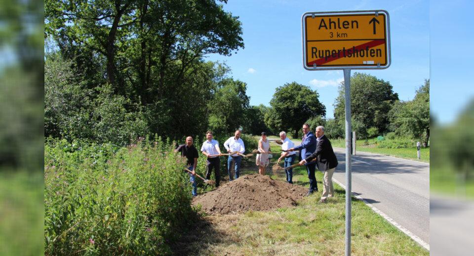 Landkreis baut Radweg zwischen Ahlen und Rupertshofen