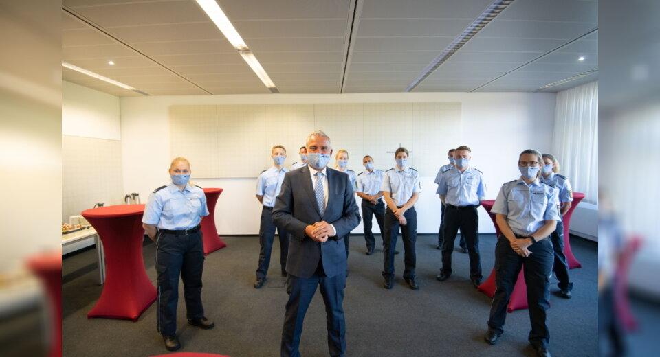 Innenminister Strobl besucht den neuen Standort der Hoch-schule für Polizei Baden-Württemberg in Herrenberg