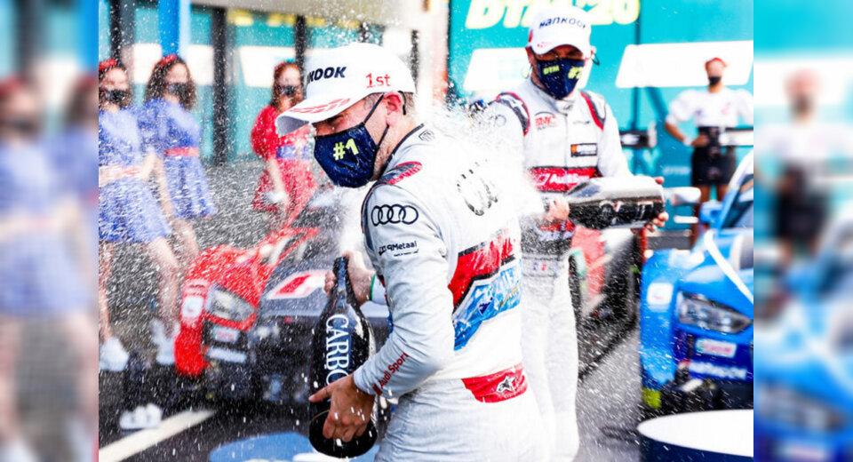 Riesenjubel in Assen: Audi-Pilot Frijns feiert ersten DTM-Sieg vor heimischem Publikum