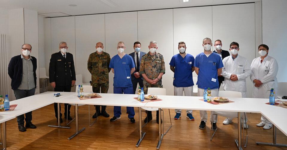 Soldaten beenden Corona-Einsatz am St. Elisabethen-Klinikum