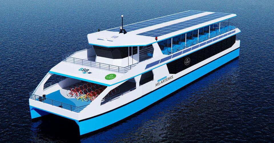 Ahoi, zu einer neuen klimafreundlichen Ära: Elektroschiff MS Artemis