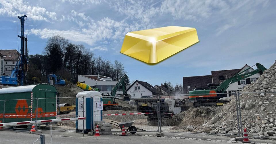 Bauarbeiter finden Gold auf Weingartener Feuerwehrhaus-Baustelle