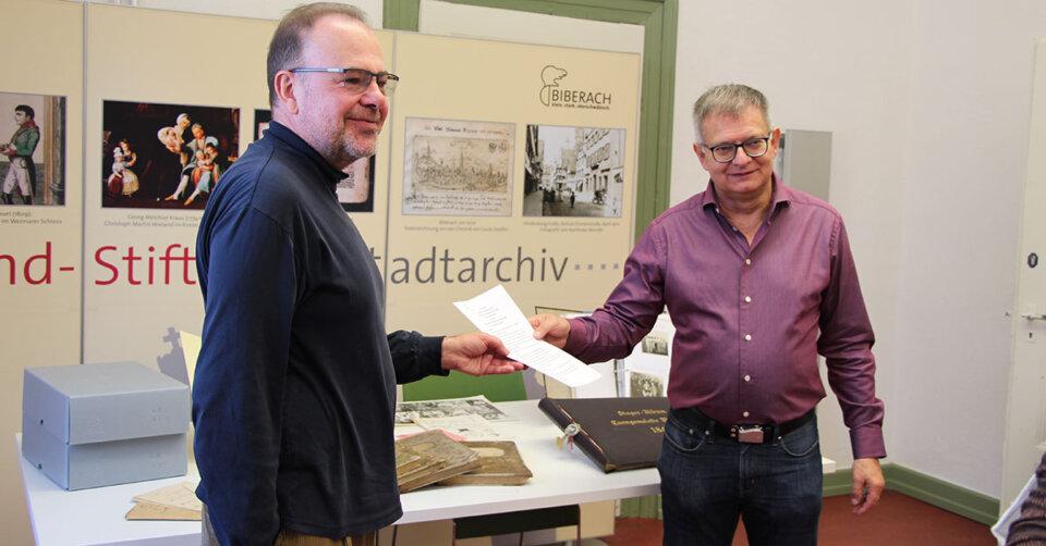 Schenkung: TG-Archiv geht ans Stadtarchiv