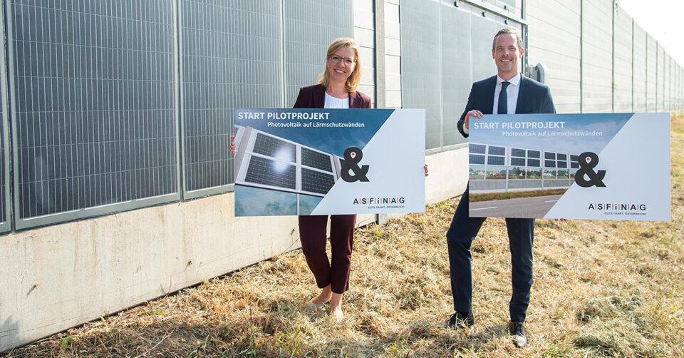 ASFINAG startet Pilotprojekt: Photovoltaik an Lärmschutzwänden auf Autobahnen