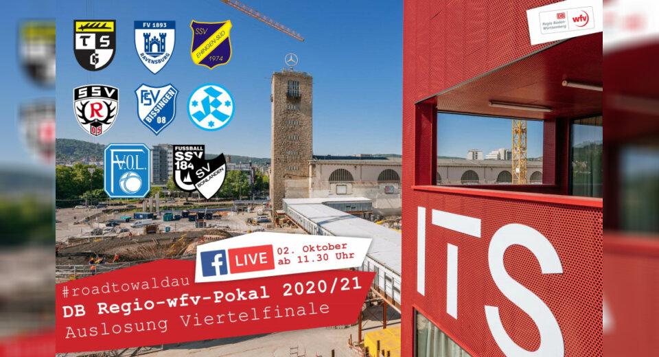 Auslosung für die Viertelfinal-Partien im DB Regio-wfv-Pokal der Herren 2020/21