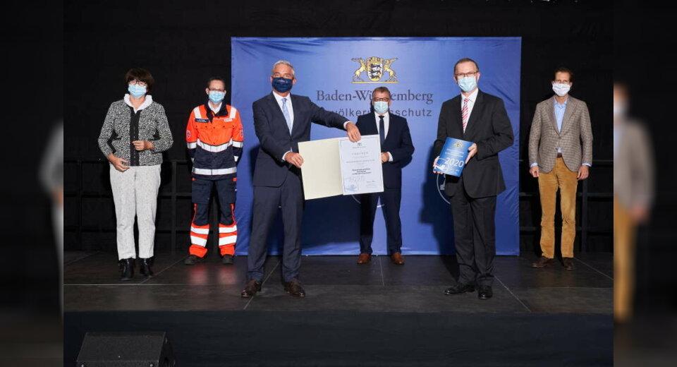 Innenminister Thomas Strobl zeichnet ehrenamtsfreundliche Arbeitgeber im Bevölkerungsschutz aus