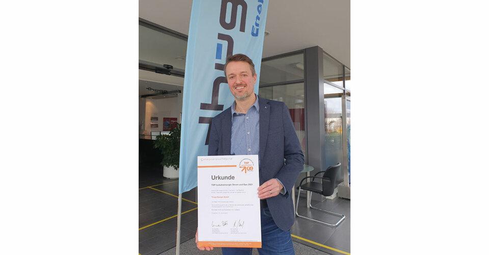 """Auszeichnung """"Top-Lokalversorger"""" für Thüga Energie"""