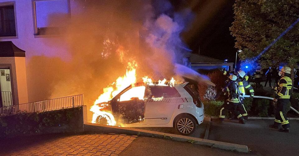 Fahrzeugbrand in Ravensburger Südstadt