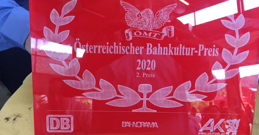 Der Bahnkulturpreis ist die höchste Auszeichnung der ÖMT. Heuer darf sich die Bregenzerwälderbahn darüber freuen