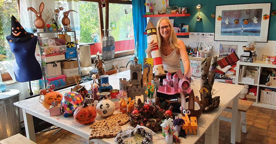 Keine Grenzen für die Kreativität: Nadjas Bastelstube bietet tolle Ferienkurse an