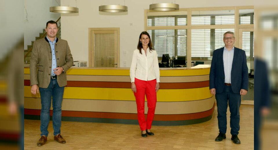 Bürgermeister besucht Firma SaluVet