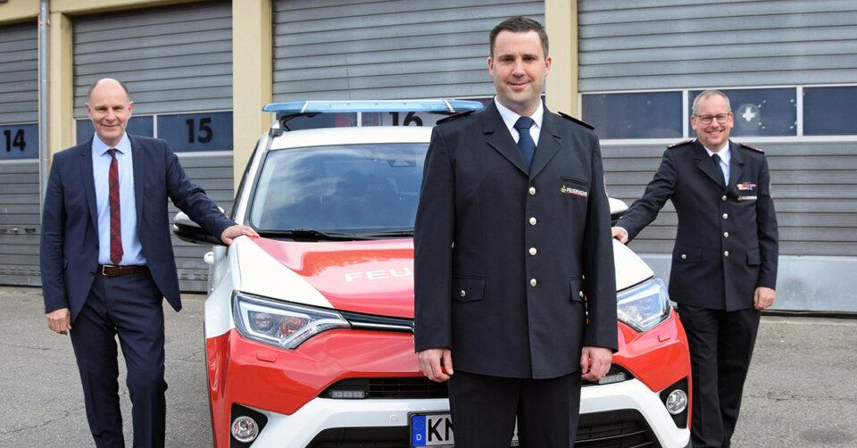 Neuer Feuerwehrkommandant in Singen
