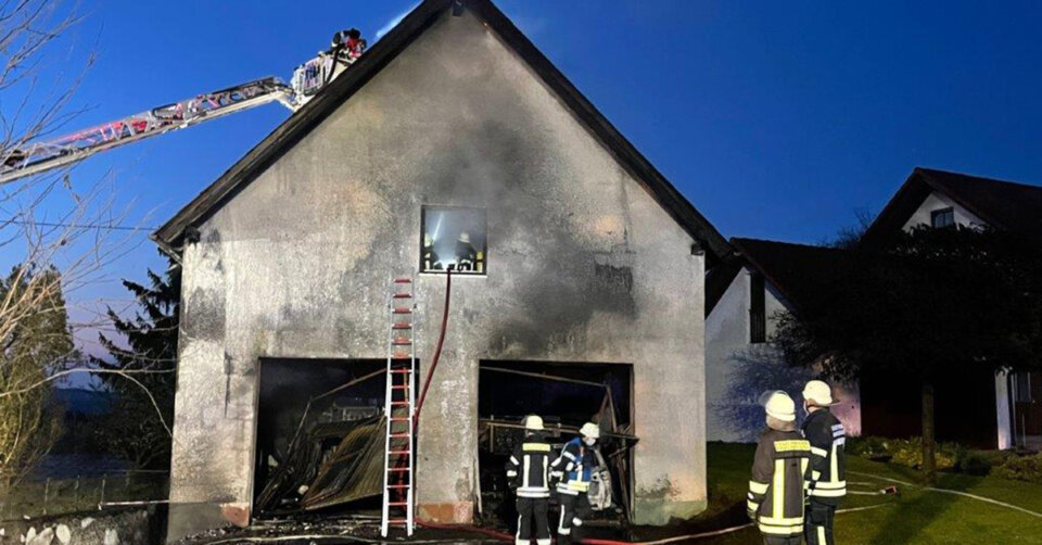 Feuerwehreinsatz: Brand in Adelsreute
