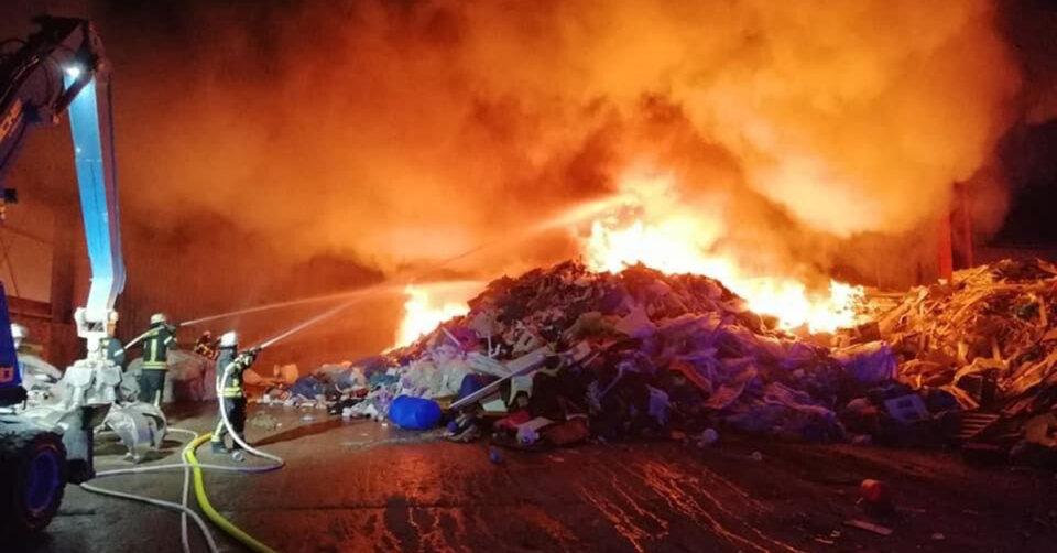 Feuer bei Firma Bausch in Ravensburg
