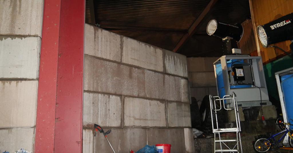 Diese Mauer wurde als Schutz vor Feuer errichtet