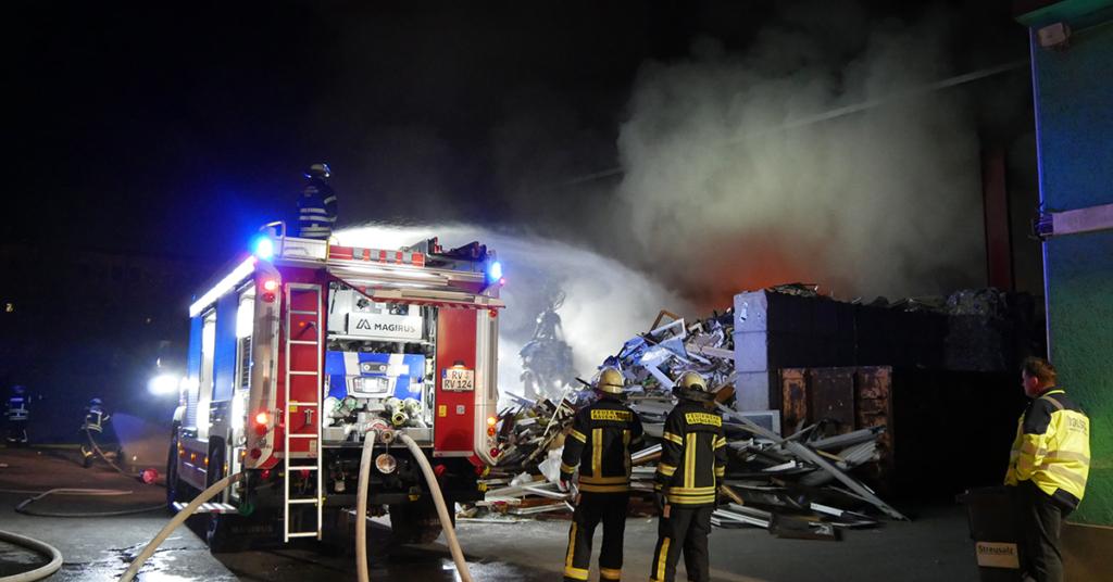 Die Feuerwehr Ravensburg im Einsatz.