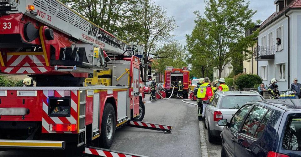 Brand in Wohnhaus in Weingarten