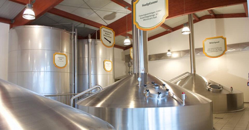 Brauereiführung in der Edelweißbrauerei Farny in Dürren