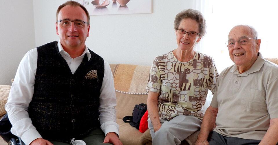 70 Jahre verheiratet: Oberbürgermeister Ewald gratuliert