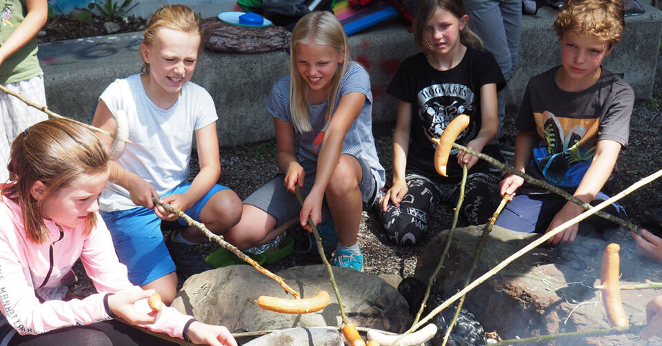 Das Team Sozialarbeit bietet Outdoor-Tage für Kinder an