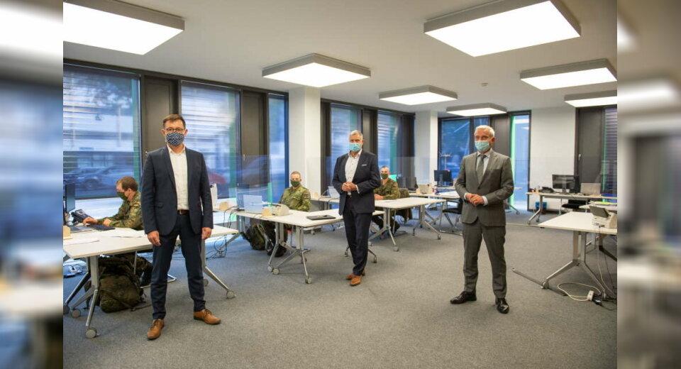 Bundeswehr unterstützt in der Pandemie – auch im Landratsamt Heilbronn