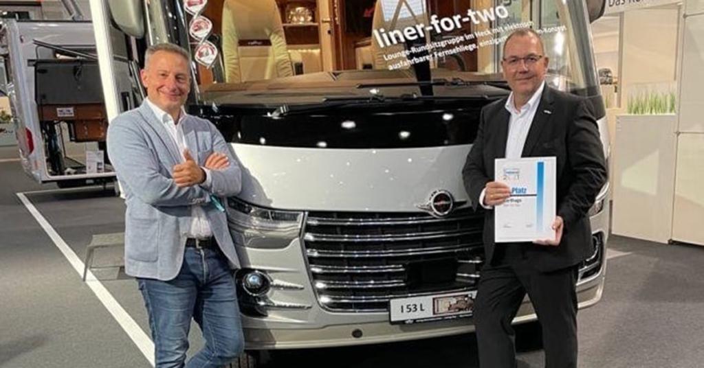 Alexander Wehrmann (PR/Strategisches Markenmanagement) und Jürgen Fleuter (Leiter Vertrieb Carthago)
