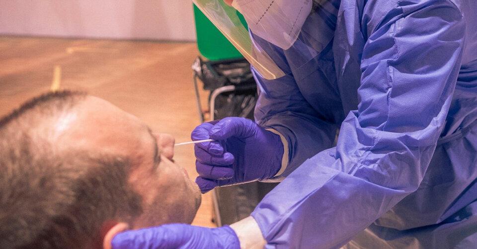 Nochmalige Testung in der Landeserstaufnahme-einrichtung Sigmaringen auf das SARS-CoV-2-Virus
