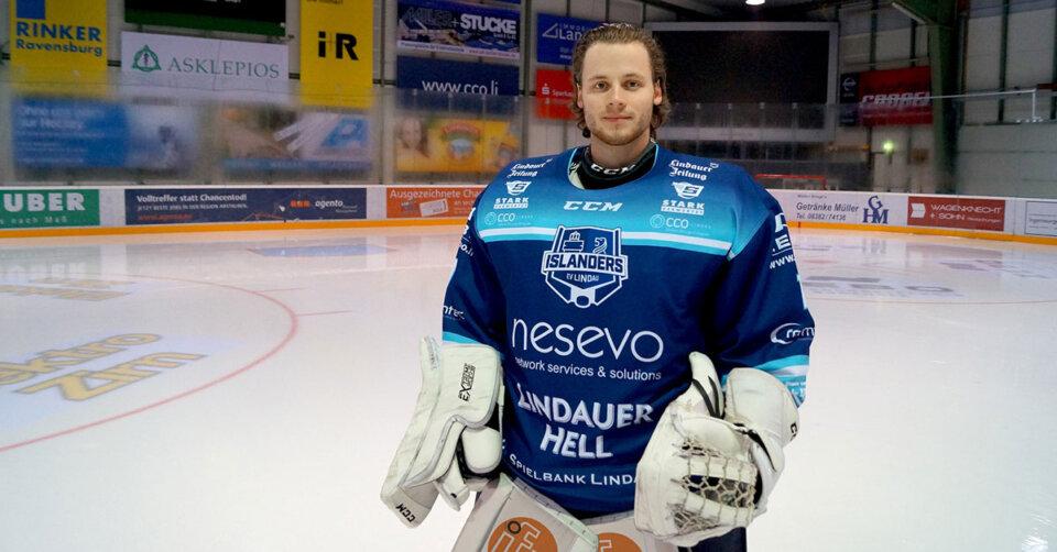 David Heckenberger bleibt den Islanders als Goalie erhalten