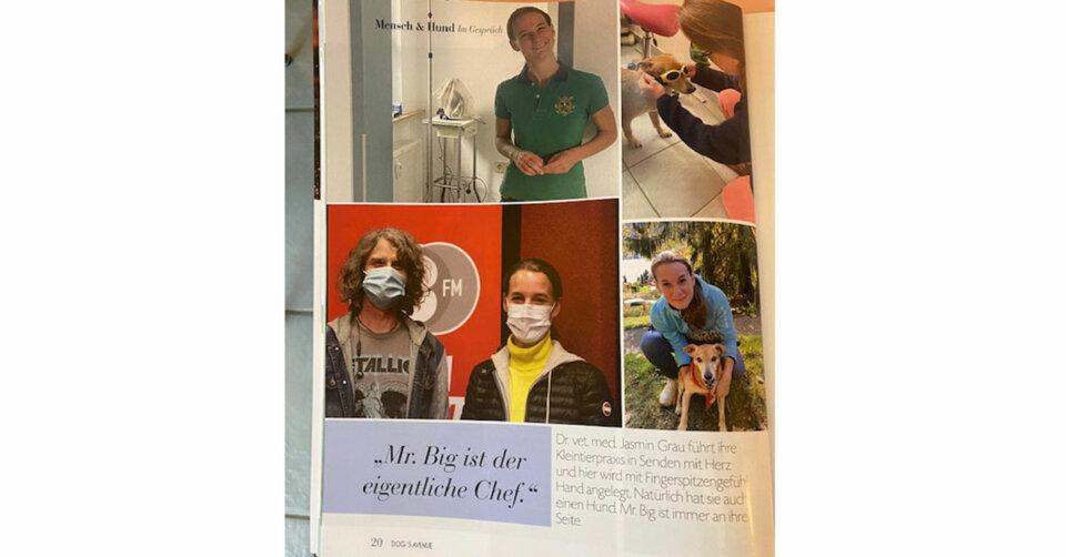 "Tierarzt Jasmin Grau im ""DOG'S AVENUE"""