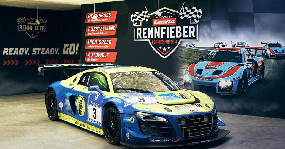 """Adrenalin im Dornier Museum: Neue Erlebnisausstellung """"Rennfieber"""" bietet Motorsport, Geschwindigkeit und Live-Action für jedes Alter"""