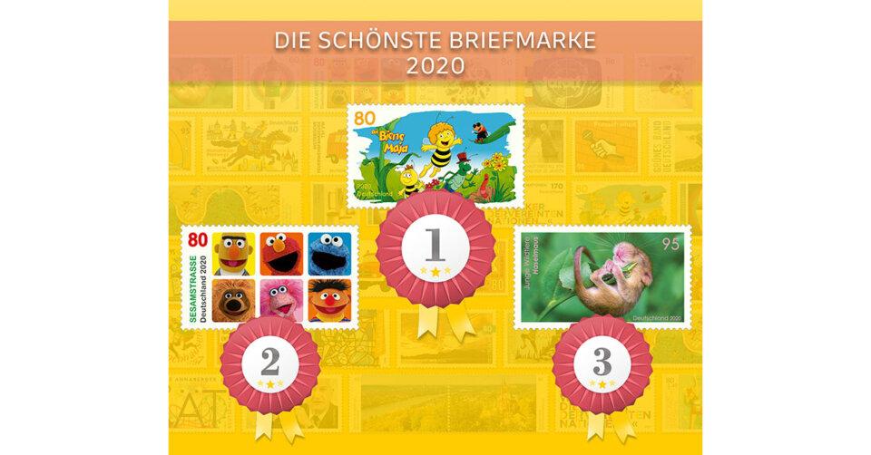Die Biene Maja ist Deutschlands schönste Briefmarke 2020