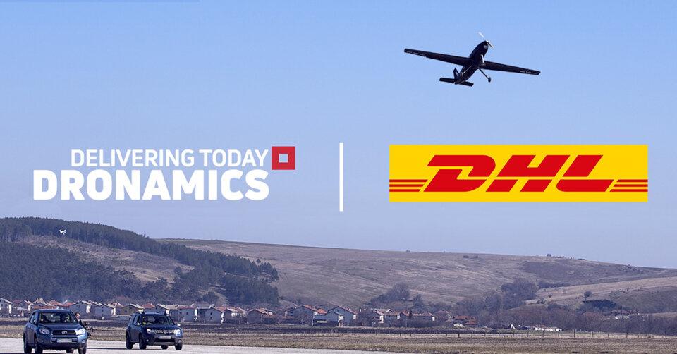 DRONAMICS und DHL schließen Partnerschaft für Drohnenlieferungen auf der mittleren Meile