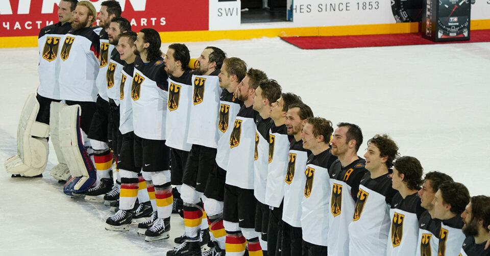 Die deutsche Eishockey-Nationalmannschaft kämpft um Bronze