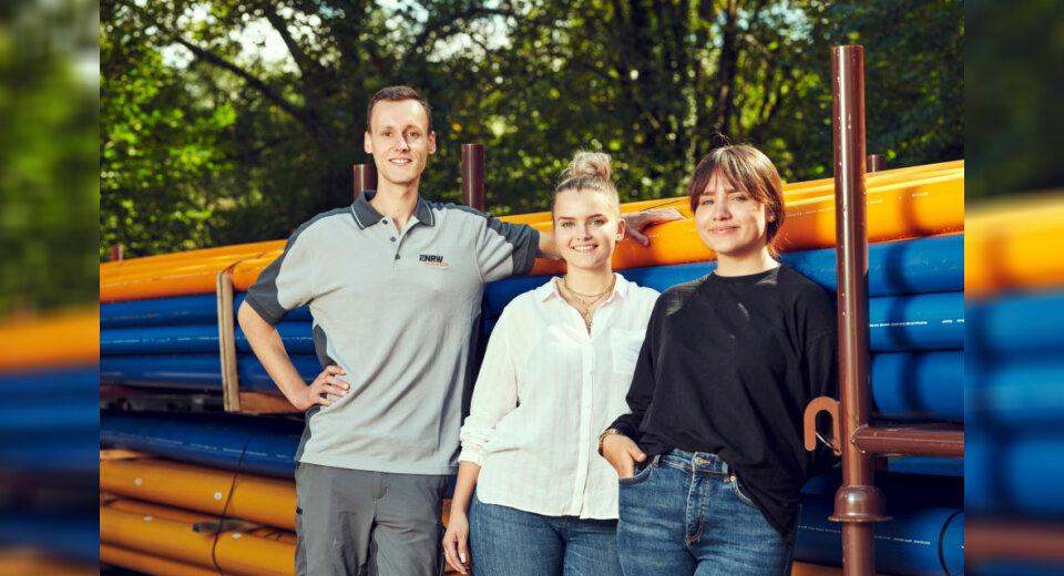 Drei Auszubildende starten bei der ENRW ins Berufsleben