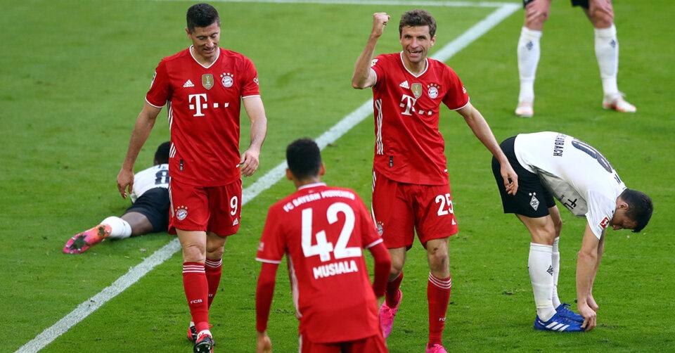 Die Bayern feiern eine Katakomben-Meisterschaft