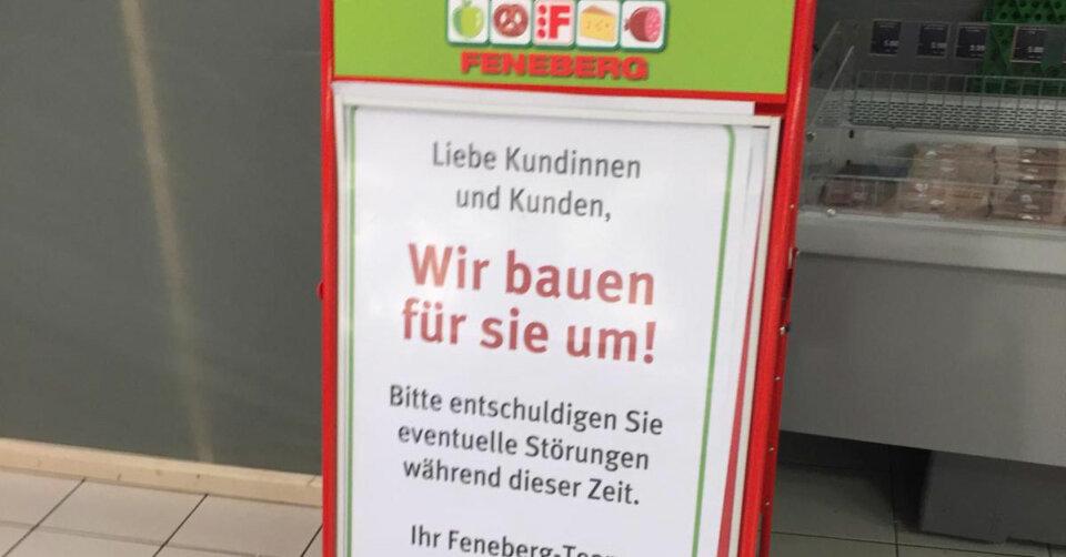 Großumbau bei Feneberg im Lindaupark – Lebensmittelmarkt wird umstrukturiert, verkleinert und komplett modernisiert