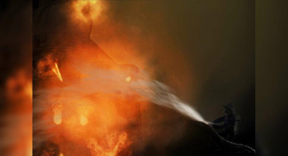 Scheffelhalle abgebrannt