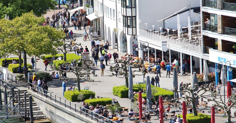 Friedrichshafen lebt wieder auf – beste Stimmung bei Händlern und Gastronomen