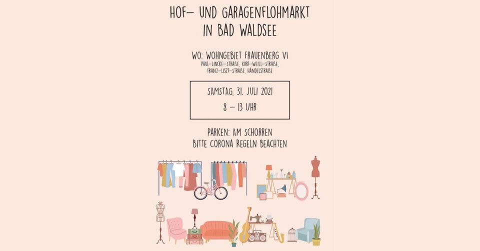 Garagenflohmarkt am Samstag, 31.07.2021 in Bad Waldsee