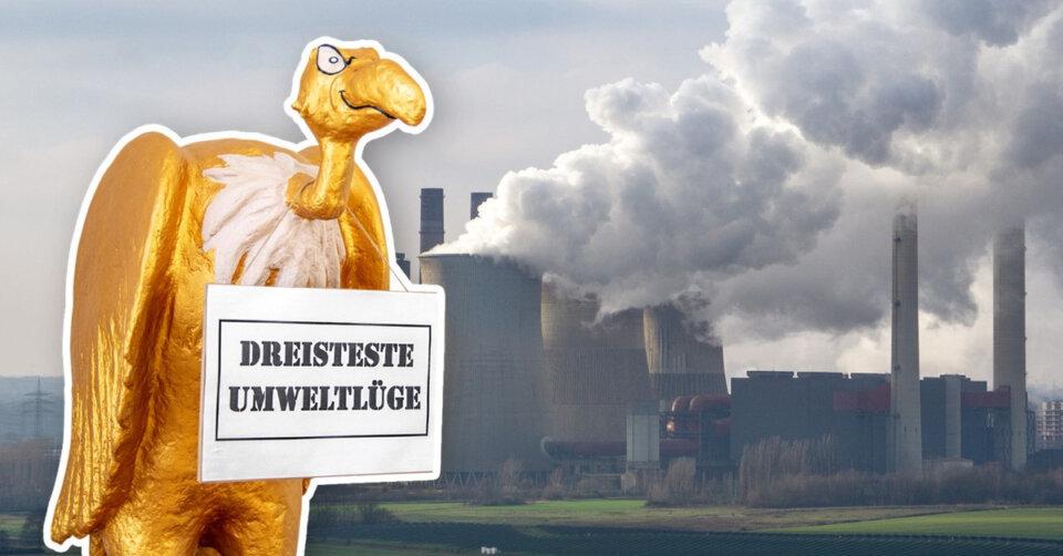 """Die Deutsche Umwelthilfe, mit Sitz in Radolfszell, hat den """"Goldenen Geier"""" an den Energiekonzern RWE verliehen"""