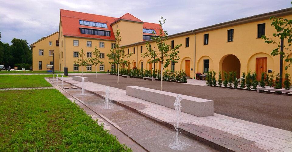 Weißenau: Stadt investiert in einen attraktiven Platz für die Erholung und Klimafolgenanpassung direkt neben der Klosterkirche