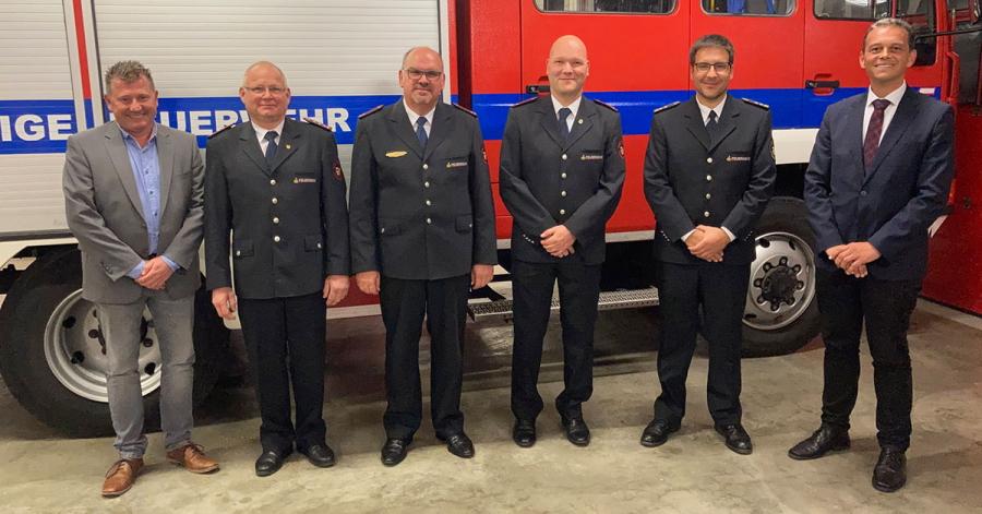 Hans-Jörg Schraitle, Werner Späth, Michael Fischer, Sven Huber, Felix Engesser und Georg Schellinger (von links).
