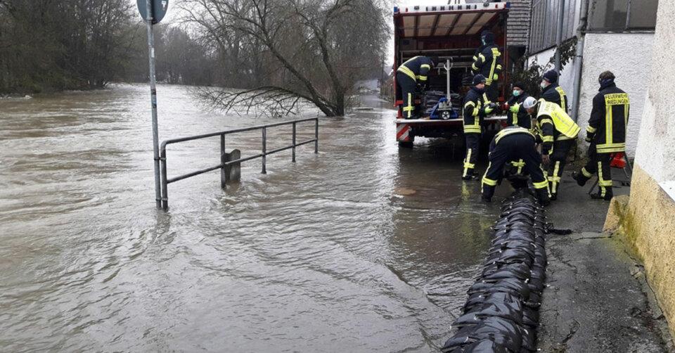 Hochwassereinsatz in Riedlingen