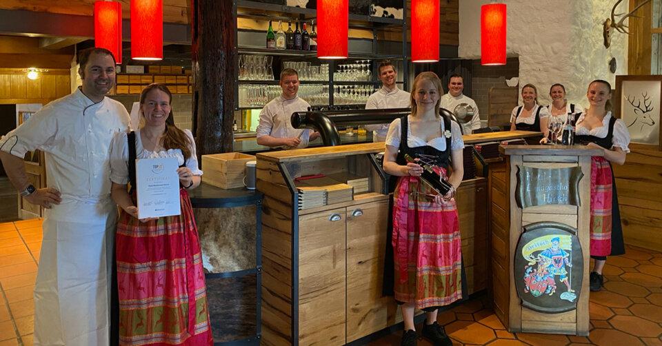 Hotel-Restaurant Hirsch ist TOP Ausbildungsbetrieb