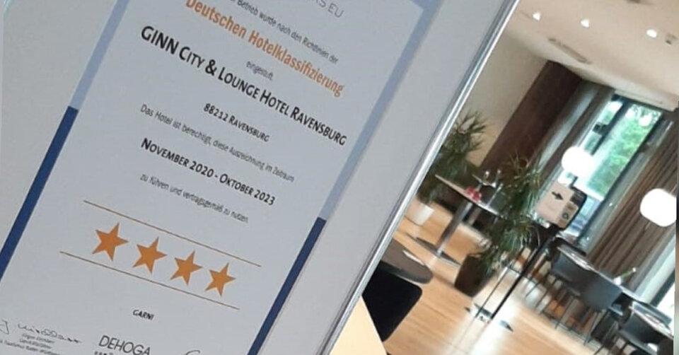 4 Sterne Klassifizierung für Ginn -Hotel schon im November