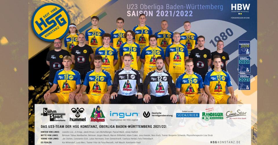 Junger Trainer, junges Team: 16 Eigengewächse starten mit der U23 der HSG Konstanz in der Oberliga