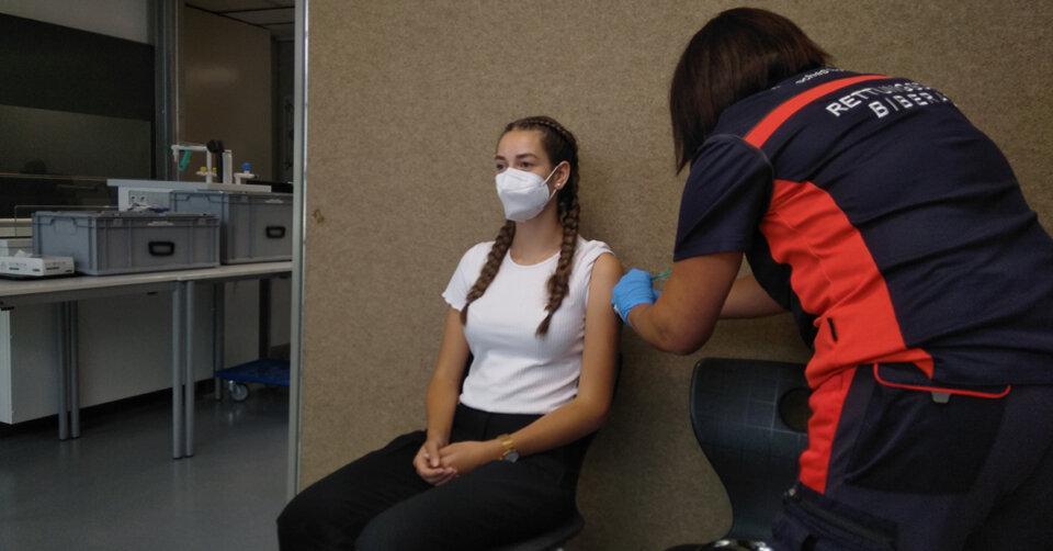 Impfaktion am Kreis-Berufsschulzentrum Biberach
