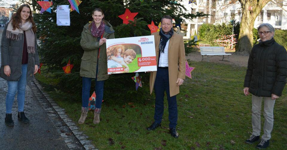 4000 Euro für die Kinderstiftung Ravensburg