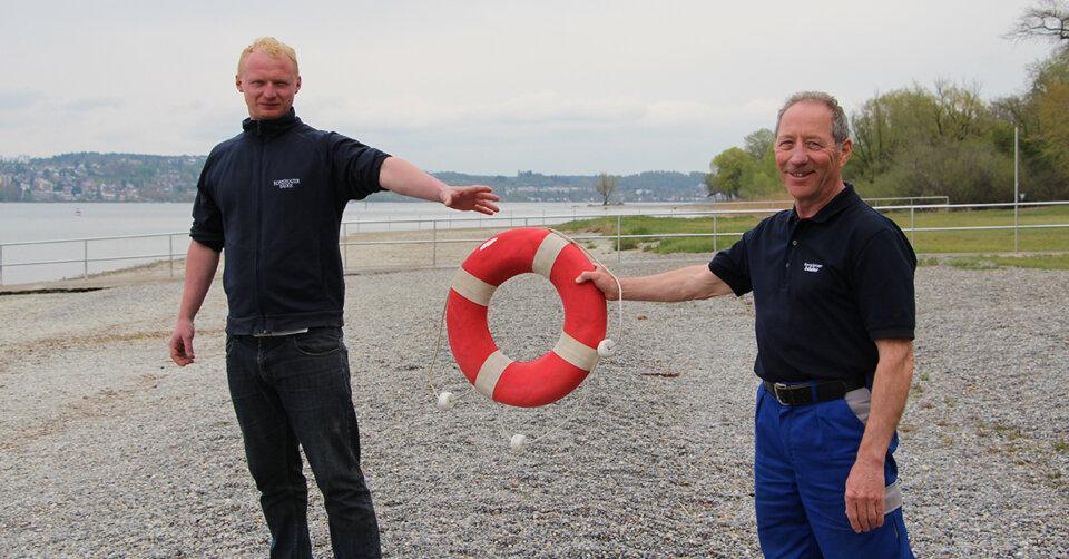 Führungswechsel im Strandbad Wallhausen: Arthur Knutas gibt den Rettungsring weiter